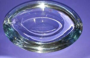 Strombergshyttan Stromberg glass Oval Geode ashtray mid century Gunnar Nyland