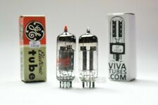 Tests NOS Matched Pair GE 12BH7A Grey OVAL Plate Top O Get Vacuum Tubes