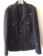 Juicy Couture Wool Military Band Jacket Coat 4 Pocket Gray Women's Large NWOT