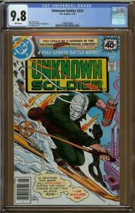 Unknown Soldier #223 CGC 9.8 Highest Graded & Only 9.8 Copy!