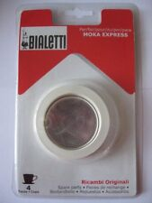 Bialetti 3 Replacement spare Seal Filter Parts 4 Cups MOKA/DAMA 3seals 1filter