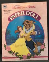 Vintage Beauty & The Beast Paper Dolls Golden Book Disney 1991 Characters Mint