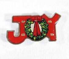 Lighted Magnetic Pin with Christmas Wreath and Joy