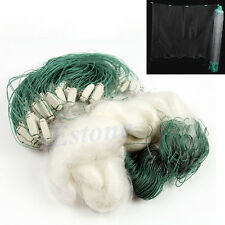 45M Clear Green White Fishing Net With Float Fish Trap Monofilament Mesh Gill