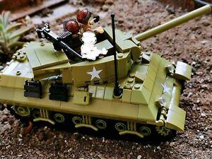 WWII US M36 tank destroyer World War 2 II WW2 Army Soldier figure MOC USA Korean