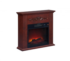 Fireplace TV Stands 28 inch Electric Fireplace Heater Chestnut Adjustable Temper