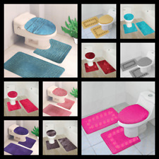 3PC 2 STYLES BATHROOM SET CONTOUR TOILET LID COVER  MATS RUGS Accessories