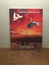 Simpson Lawrence USA, Marine Equipment Catalog 1997