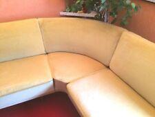 großes Cocktail Lounge Eck-Sofa aus den 50ern Vintage handgearbeitet komfortabel