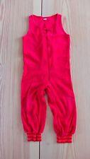 MOONKIDS retro Strampler Overall Latzhose Nicki Gr. 80 rot orange TOP slim fit