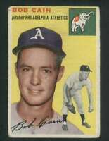 1954 Topps #61 Bob Cain VG/VGEX Athletics 79986