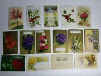 Vintage Post Cards Postcard Lot Early 1900's Post Marked Stamped Flower