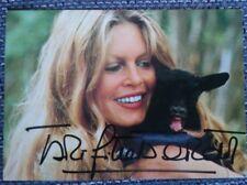 Brigitte Bardot Original signierte Autogrammkarte, Autograph, Frankreich