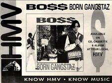"""7/8/93PGN32 BOSS : BORN GANSTAZ ALBUM ADVERT 7X11"""""""