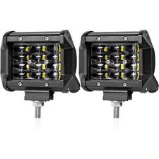 "2PCS 4"" inch 200W CREE LED Work Light Bar Flood Spot Combo Driving Cube Lamp Car"