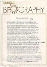 Sally Oldfield Bronze Biography September 1978