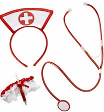 German Trendseller®- 4x Krankenschwester Set┃sexy┃Fasching ┃ Verkleidung┃ Kostüm