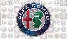 ALFA ROMEO new logo 2015 photo mosaic cm. 30x41 poster pics of ALFA ROMEO logos