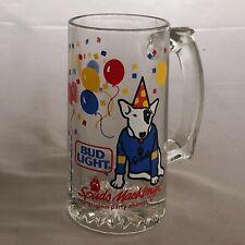 Spuds MacKenzie Vintage 1987 Dog Party Animal Bud Light Glass Beer Mug 12oz