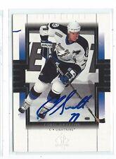 Chris Gratton Signed 1999/00 SP Authentic Card #80