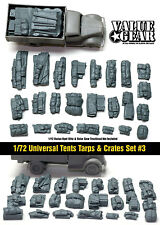 1/72 scale 72003 Tents, Tarps & Crates #3 (24 Pieces) military tank stowage