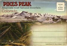 Vintage Souvenir Photo Folder - Famous Mountain PIKES PEAK Colorado 1940's