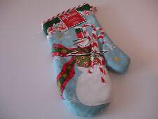 New! Peppermint Candy Cane Christmas Snowman Oven Mitt Kitchen Oven Mitt Kay Dee