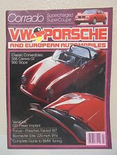 FEBRUARY 1989 VW & PORSCHE MAGAZINE EUROPEAN AUTOMOBILES