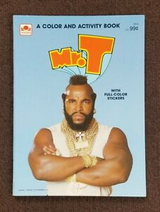1984 NOS Vintage UNUSED The A-Team Mr T  Coloring & Activity & STICKER book