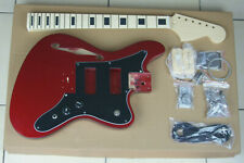 DIY/Build Your Own GUITAR KIT J Master Thinline Edge Bound Candy Apple Red