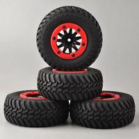 4X 1/10 Short Course Tires&Bead-Lock Wheels for RC Truck TRAXXAS Slash Car