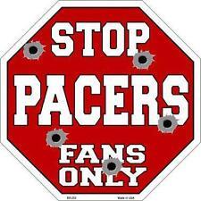 NBA Basketball Indiana Pacers Metal Stop Sign Man Cave Garage Shop Barn BS-253