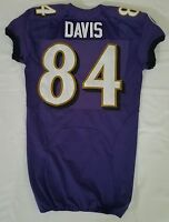 #84 Davis of Baltimore Ravens NFL Locker Room Practice Worn Jersey - BR1715