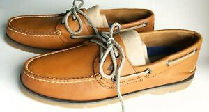 Men's New!~SPERRY TOPSIDER Boat Shoes~SmoothTan Leather~Size 9 M