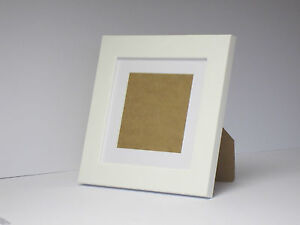 White 5x5 Square Picture Photo Frame Mount 3x3 hang Stand