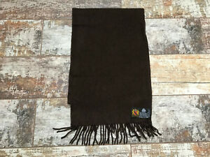 Made in Germany Men's Brown Wool Scarf