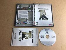 WWII Battle Tanks t-34 vs. Tiger-PC DVD ROM getestet/funktioniert/Serial UK Pal