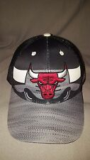 ADIDAS NBA CHICAGO BULLS SHADOW BLACK GREY SNAPBACK TRUCKER HAT NEW WITH TAGS