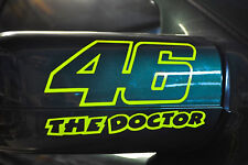 STICKERS FLUO N 46  the doctor ROSSI Moto GP ,vr46  moto FLUO 9x15cm