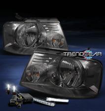 2004-2008 FORD F-150 F150 SMOKE CRYSTAL HEAD LIGHT W/LED DRL SIGNAL+6K XENON HID