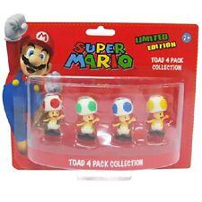 Nintendo Super Mario Mini Figure Pack Toad Red Yellow Blue Green
