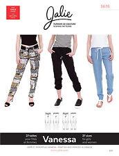 Jalie 3676 Vanessa Fluid Pants Elastic & Drawstring Waist 2 Views Sewing Pattern