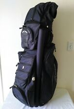 Awesome Sun Mountain C-130 Navy Blue golf cart bag w/14 dividers and rain cover