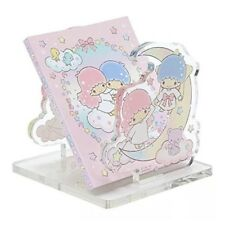 New Sanrio LITTLE TWIN STARS clear acrylic memo pad notebook stand case!