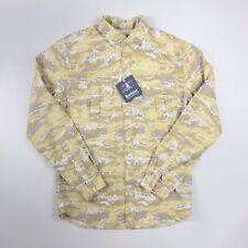 BNWT Barbour X White Mountaineering - Stone Wave Print Shirt - Size Medium