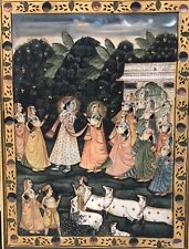 Antique Oil Painting Marriage Of Krishna