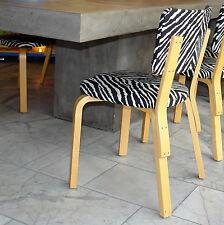 Alvar Aalto für Artek 1997 1 Stuhl Modell 63 Zebra Design by Franta