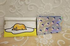 Ipsy Make-up Bags Gudetama & Silver Iridescent with Peppermint Candies Excellent