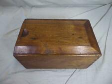 """Vintage/Antique Solid Wood Box with Sliding Lid (13"""" x 8"""" x 6.5"""")"""