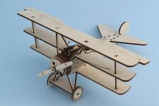 Fokker DR1 1:24 scale , wooden model kit, Red Baron triplane 425/17, 3d puzzle